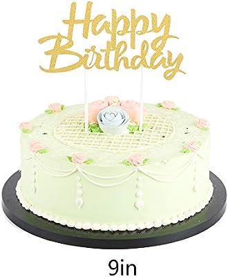 Amazon.com: LVEUD - Decoración para tartas de cumpleaños con ...