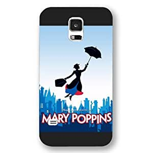 Customized Black Hard Plastic Disney Cartoon Mary Poppins Samsung Galaxy S5 Case