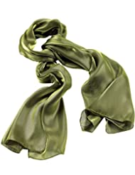 Large Olive Green Metallic Look Sheer Fashion Neck Scarf Tie Head Wrap