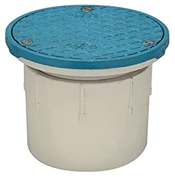 Zurn CO2400-PV3 PVC Floor Cleanout with Cast Iron Top, 3