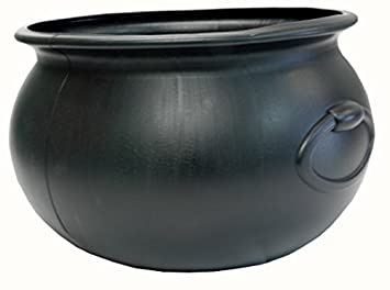 Amazon.com: Halloween Cauldron 16 Inch Black Plastic Party ...