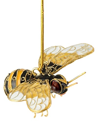 Cloisonne Christmas Tree - Cloisonne Bumble Bee Hanging Ornament 3.5 Inches