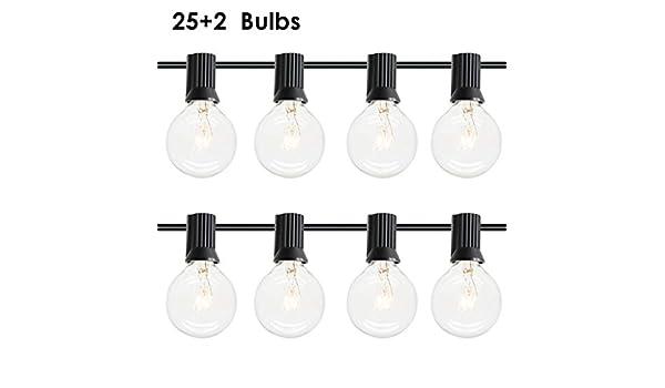Gojiny 25 G40 Globe String Lights Warm White Waterproof Decorative ...