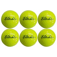 EliteShine 6-Piece Luminous Fluorescent Glow-in-The-Dark Night Golf Ball Rechargeable by Sun Light