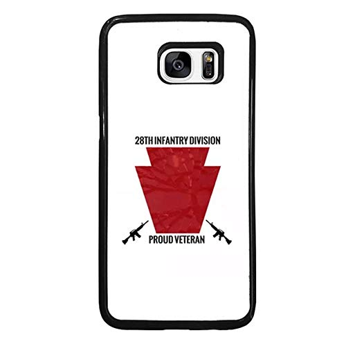 Skinsends United States Army 28th Infantry Division Phone Case Compatible with Samsung Galaxy S7 Edge, U. S. Army Keystone Hard Plastic Back Cover Compatible with Samsung S7 Edge -
