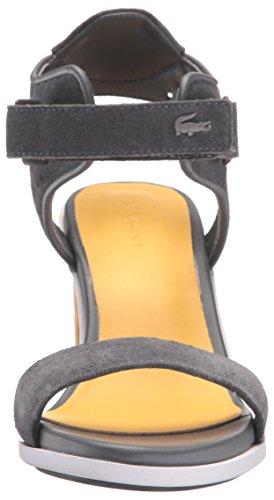 Lacoste Dames Lonelle Hak Sandaal 216 1 Jurk Pump Donkergrijs / Geel