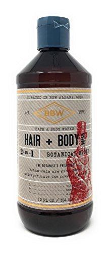 Bath & Body Works 12 Ounce 2-In-1 Hair + Body Wash Botanical Blend Scent (Bath 1)