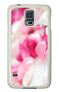 Samsung Galaxy S5 Case Cover - Pink Orchid Flowers Custom Design PC White Case Cover for Samsung Galaxy S5
