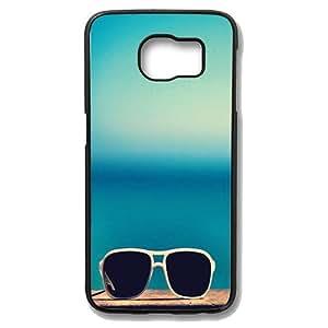 Samsung Galaxy S6 Edge Case - Cool Sun Glasses Slim Bumper Case with Soft Flexible TPU Material for Samsung Galaxy S6 Edge Black
