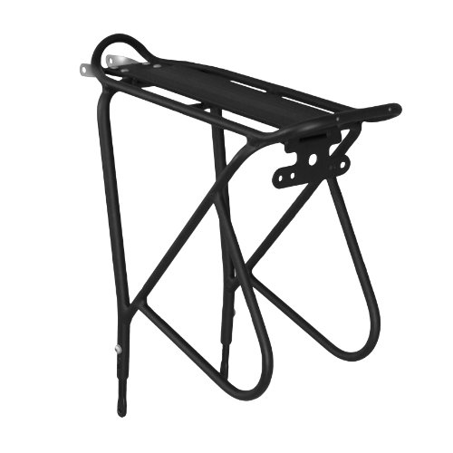 "Ibera PakRak Bicycle Touring Carrier Plus+, Frame-Mounted for Heavier Top & Side Loads, Height Adjustable, Fender Board, for 26""-29"" Frames"