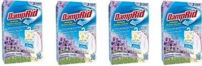 DampRid FG83LV Hanging Moisture Absorber Lavender Vanilla UnyXyB, 4Pack (3 Pack, Lavendar)