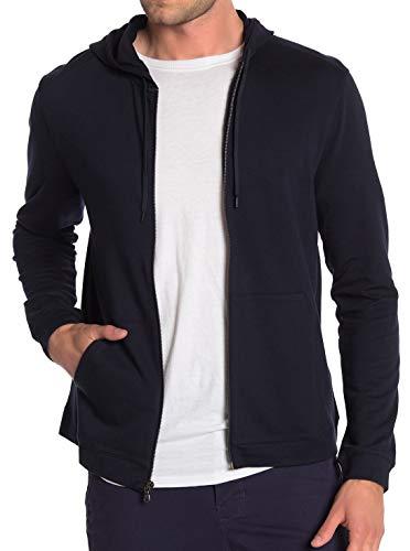 John Varvatos Men's Long Sleeve Classic Zip Front Hoodie 3 Star Embroidered Medium - John Zip Varvatos Mens
