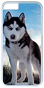 Animals Husky Dog Case for iPhone 6 Plus PC Material White in GUO Shop