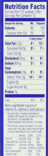 Pillsbury Sugar Free Chocolate Cake Mix Nutrition