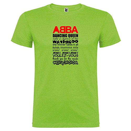 Oasis shirt T Manica Greatest Unisex By Corta Bikerella Verde Abba Song color qvBx5Bw