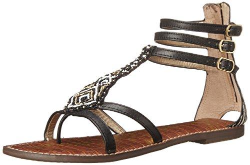 Sam Edelman Women's Giselle Gladiator Sandal, Black/Black/Ivory, 9.5 M US