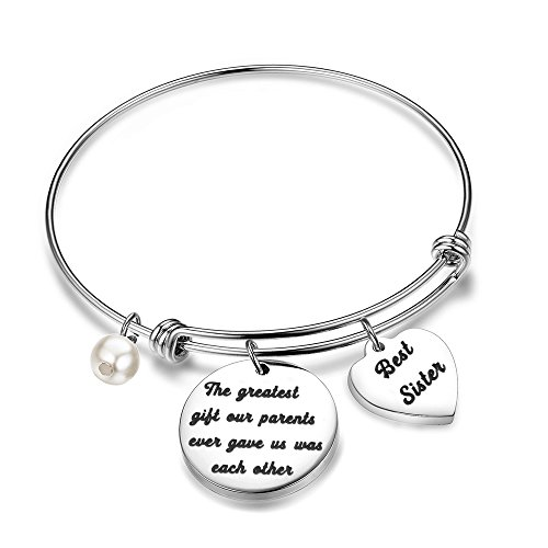 BNQL Sister Brother Bracelet Brother to Sister Gift Birthday Gift for $<!--$15.67-->