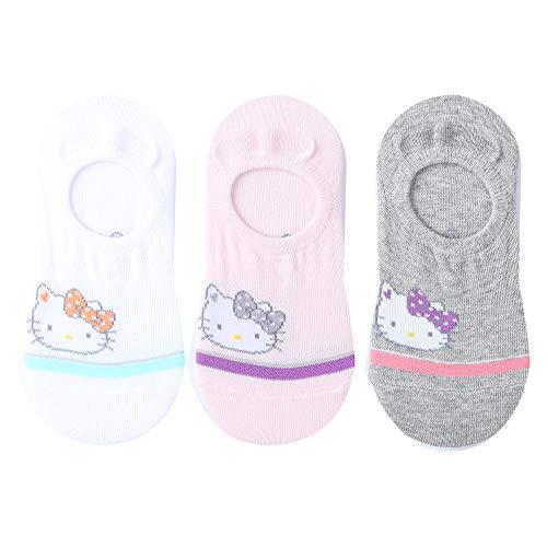 Hello Kitty 3Pairs Girls No Show Socks Non Slip Flat Boat Line 4-6 years old