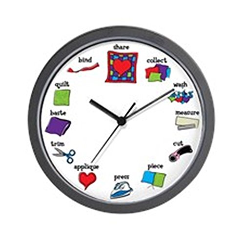 CafePress - Quilter's Clock Wall Clock - Unique Decorative 10