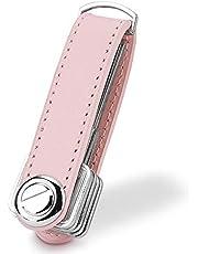 Compact Key Holder Leather Keychain, Bosiwee Smart Key Organizer, Folding Pocket Key Holder Chain
