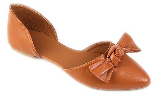 Online Pretty Girl Mujeres Flats Jersey Suave Y Falsa De Cuero Vegano Cómodo Basic Canvas Slip On Zapatos De Ballet Zapatos De Vestir De Coñac
