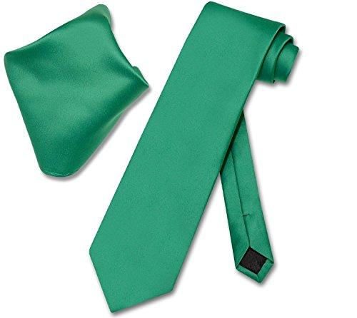 Men's Solid Tie Set (Emerald ()