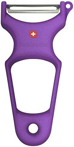TS3556 ToolSwiss Clasinox Stainless Steel Blade Vegetable Peeler Purple