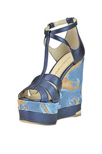 BARCELÓ Compensées Femme Chaussures Cuir MCGLCAT03173E Bleu PALOMA AfdwOA