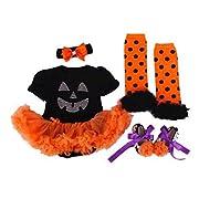 Newborn Infant Baby Girls Pumpkin Halloween Romper Outfits (S#0-3Months)