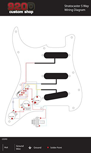 amazon com fender custom shop 69 stratocaster pickup set plus 5 rh amazon com DiMarzio Pickup Wiring Diagram Single DiMarzio Wiring Colors