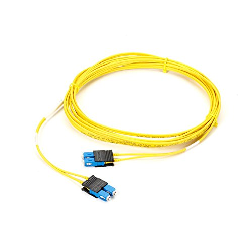 Plenum Single - Black Box Single-Mode, 8.3-Micron Duplex Fiber Optic Cable, SC-SC, Plenum, 5-m (16.4-ft.)