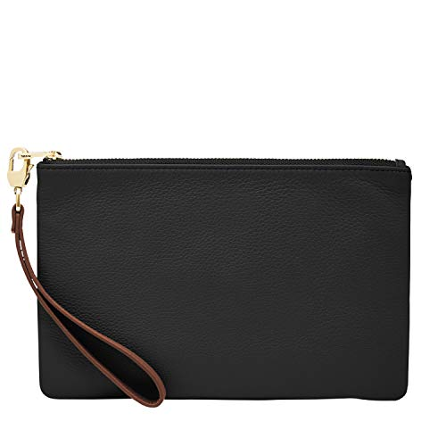 Wristlet Purse Clutch Cell Phone Smartphone Holder with Strap Aster Bloom Womens Wristlet Wallet Genuine Leather