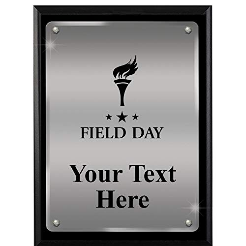 Plaque Field Award - Field Day Plaques with Custom Engraving, 7x9 Field Day Floating Plaque Award, Great Personalized Field Day Awards Prime