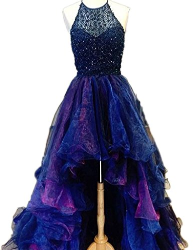 Lo Prom Hi Halter Women's Homecoming DKBridal Royalblue Dresses Beaded q7wRIC7xtB