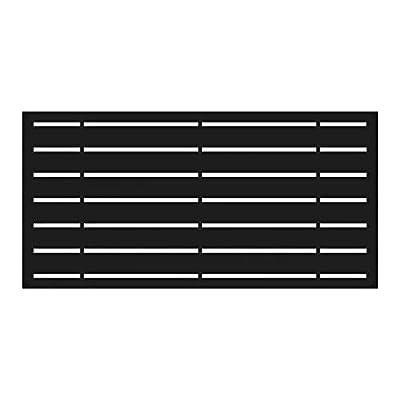 YardSmart 73042822 Decorative Screen Panel 2X4-Boardwalk, Black