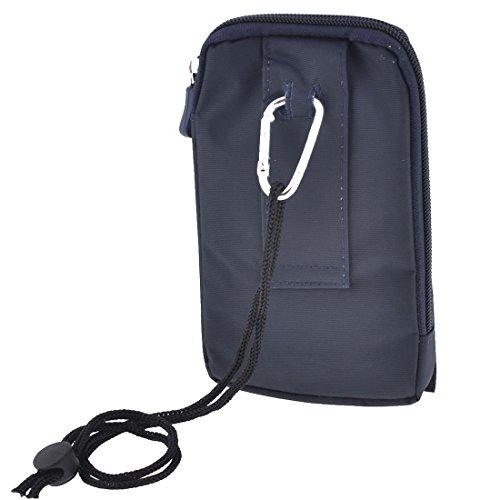 Mann Dame Klettern Taillen- vertikale Reißverschluss, Tasche, dunkelblau