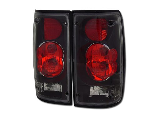 1990 90 Toyota Pickup Truck (EURO BLACK SPORT ALTEZZA TAIL LIGHTS LAMPS 1989-1995 TOYOTA HILUX PICKUP TRUCK)