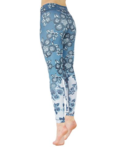 Floral Lilly (Niyama Floral Yoga Pant for Women - Lilly of The Valley - Shaping Compression Legging.)