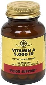 Solgar - Dry Vitamin A 5000 IU (1500 mcg), 100 Tablets