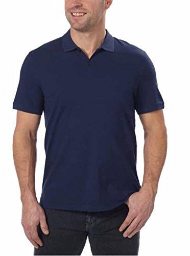 Calvin Klein Men's Lifestyle Cotton Polo Shirt (Navy, - Cotton Mens Liquid