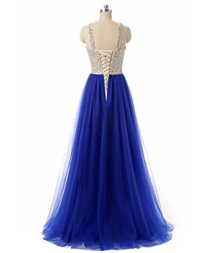 High 32W 15 Prom Evening Size Women Neck for Tulle Beading Dresses Callmelady 0 Colors Long Fuchsia 6qdS6w