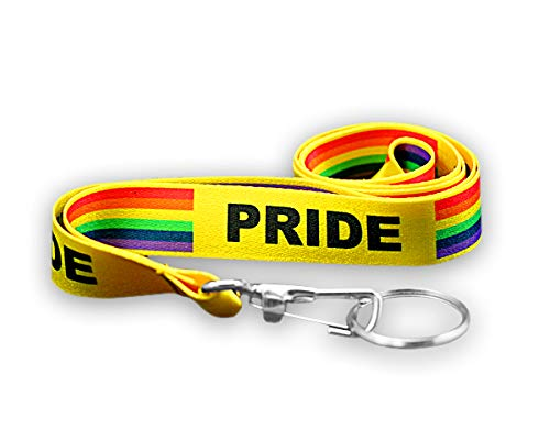 LGBTQ - Gay Pride Rainbow Lanyards (10 Lanyards in a Bag)]()