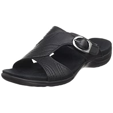 Easy Street Women's Torch Slide Sandal,Black Tumbled,6 W US