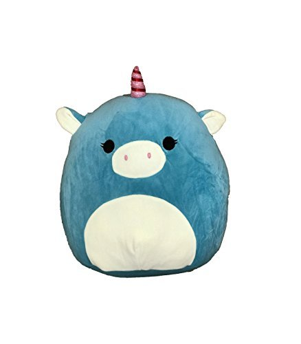 Kellytoy Squishmallow 8 Inch Ace the Turquoise Unicorn Super Soft Plush Toy Pillow (Ace Foam)