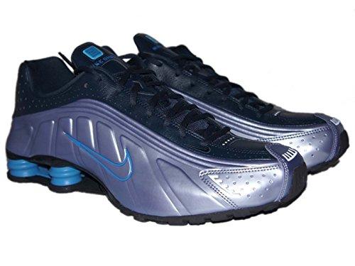 Womens Nike Shox R4 GS Silver Blue 5.5Y = Womens Size 7