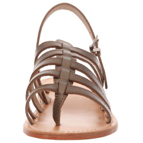 Les Tropéziennes - Sandalias de cuero para mujer Marrón (Braun (Bronze))