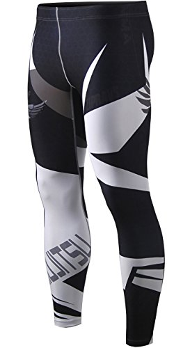 Zipravs MMA Bjj Compression Tight Pants Long Pants Running Baselayer For Unisex (Tights Compression Unisex)