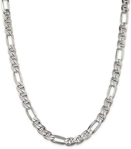 Bunnyberry 2.0mm 14K White Gold Diamond Cut Rope Anklet