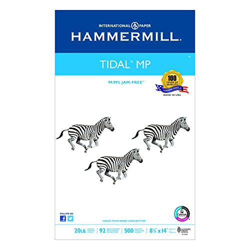 Great White Tidal Mp Paper, White, 8-1/2 X 14, 20-Lb, 500 Sheets Per Ream (HAM162016)
