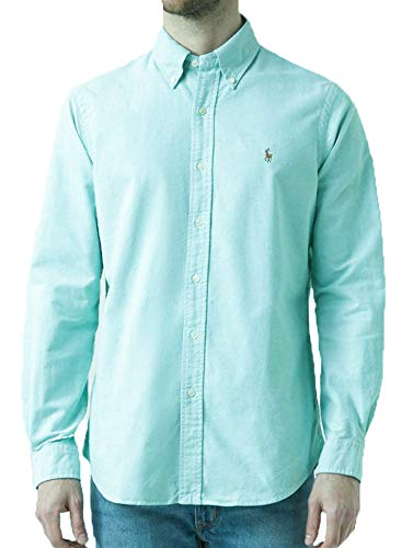 - Polo Ralph Lauren Mens Classic Fit Oxford Longsleeve Buttondown Shirt (XX-Large, Aegean Blue)